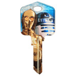 Star Wars C-3PO & R2-D2 Key Blank