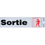 "French Adhesive Exit Sign, 2"" x 8"""