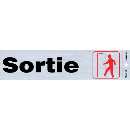 French Adhesive Exit Sign, 2