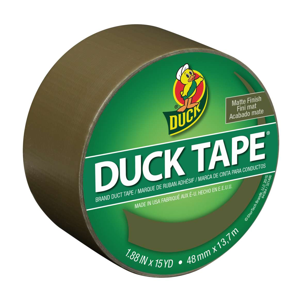 Color Duck Tape® Brand Duct Tape - Olive, 1.88 in. x 15 yd. Image
