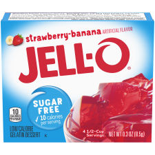 Jell-O Strawberry Banana Sugar-Free Gelatin 0.3 oz Box