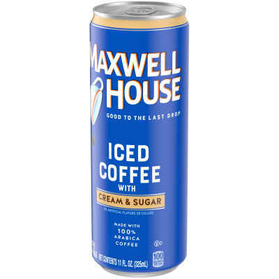 Maxwell House Black Iced Ready to Drink Coffee with Cream & Sugar, 11 oz Can
