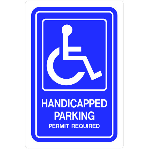 Plastic Handicapped Parking Sign (12