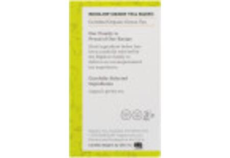 Ingredient panel of Orgranic Green Tea box of 40 tea bags