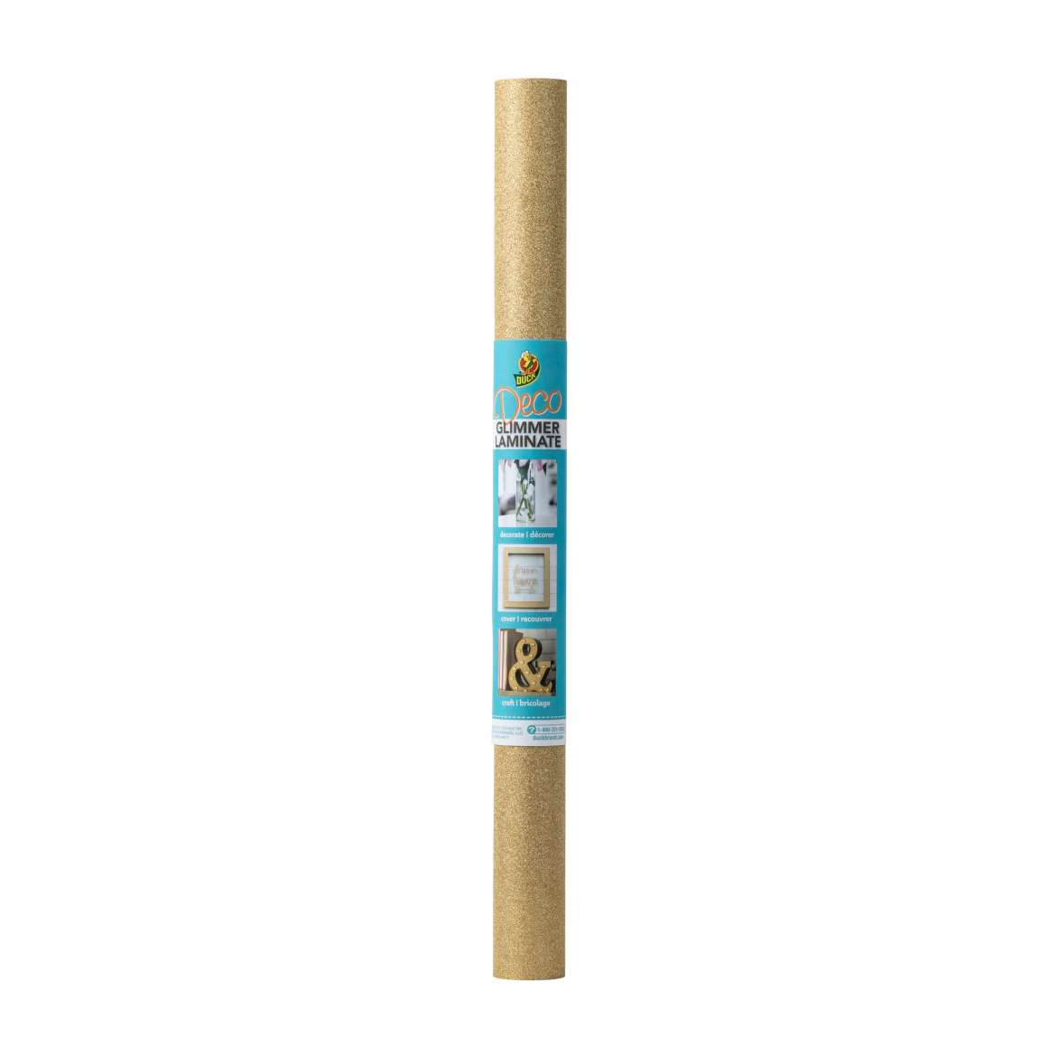 Duck® Brand Deco Adhesive Laminate - Glimmer Gold, 20 in. x 6 ft. Image