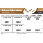"Buttons & Gallery Spindles Assortment (3/8"" thru 2-1/8"" Wooden Specialties)"