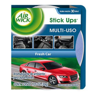 AIR WICK STICK UPS AROMATIZANTE DE AMBIENTE PARA AUTOMOVILES FRESH CAR, 30 g