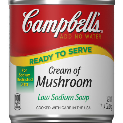 Campbell's® Classic Low Sodium Ready to Serve Cream of Mushroom Soup
