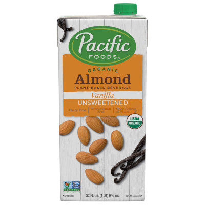 Organic Unsweetened Almond Vanilla Beverage