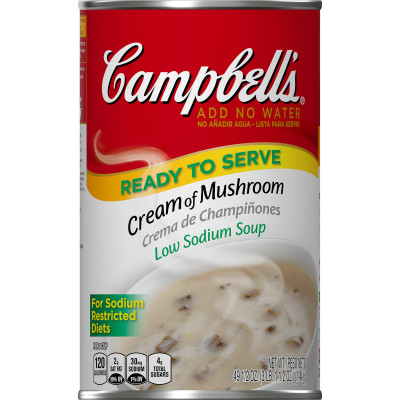 Campbell's® Classic Low Sodium Cream of Mushroom Soup