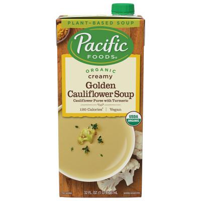 Organic Creamy Golden Cauliflower Soup