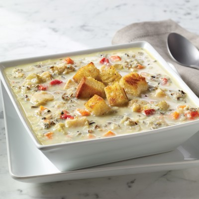 Campbell's® Reserve Frozen Ready to Eat Creamy Chicken Soup with White and Wild Rice
