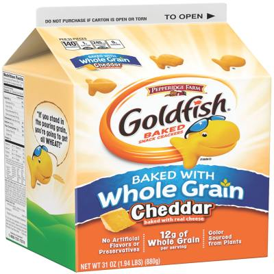 Pepperidge Farm® Goldfish Baked Snack Crackers Baked with Whole Grain Cheddar Cheese