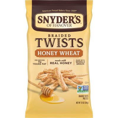 Honey Wheat Braided Pretzel Twists