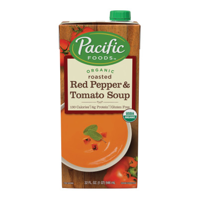 Organic Creamy Roasted Red Pepper & Tomato Soup