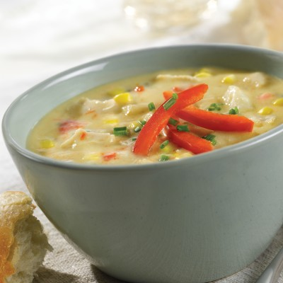 Campbell's® Signature Frozen Ready to Eat Soup Chicken Corn Chowder with Sweet Peppers