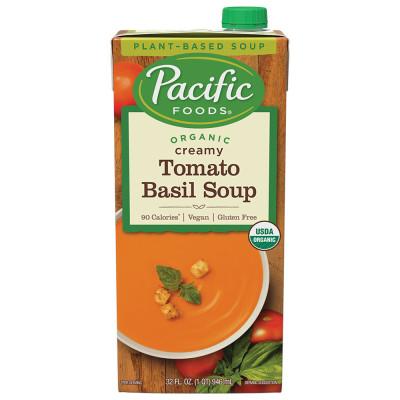 Organic Creamy Tomato Basil Soup