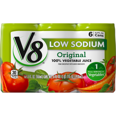 Low Sodium 100% Vegetable Juice