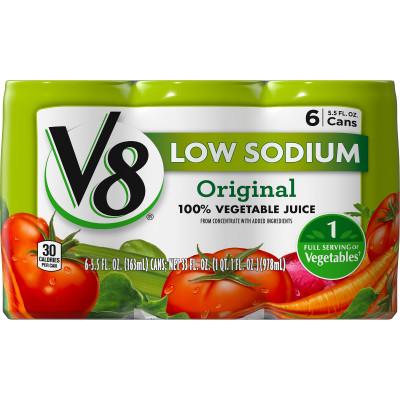 Low Sodium 100% Vegetable Juice