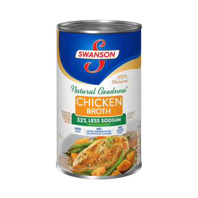 Swanson® Wellness Collection Natural Goodness® Chicken Broth, 100% Fat Free, Recipe Starter