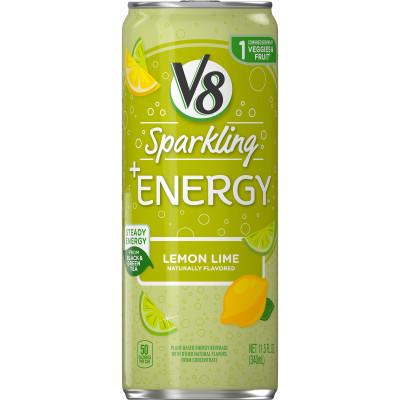 V8 Healthy Energy Drink, Natural Energy from Tea, Lemon Lime