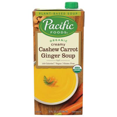 Organic Carrot Cashew Ginger Soup