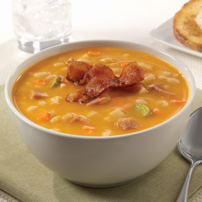 Campbell's® Signature Frozen Condensed White Bean Soup with Uncured Ham and Applewood Smoked Uncured Bacon