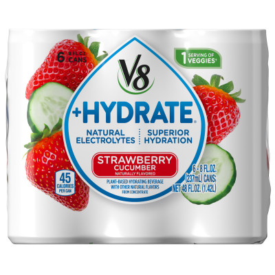 Plant-Based Hydrating Beverage, Strawberry Cucumber