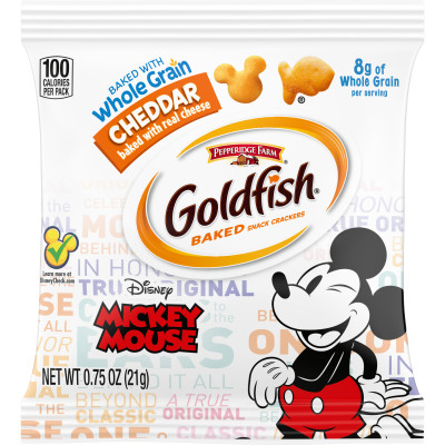 Goldfish® – Disney Mickey Mouse Cheddar Crackers Baked with Whole Grain