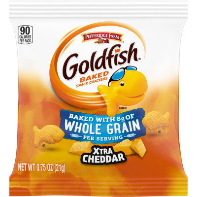 Pepperidge Farm® Goldfish Made with Whole Grain Snack Crackers, Xtra Cheddar