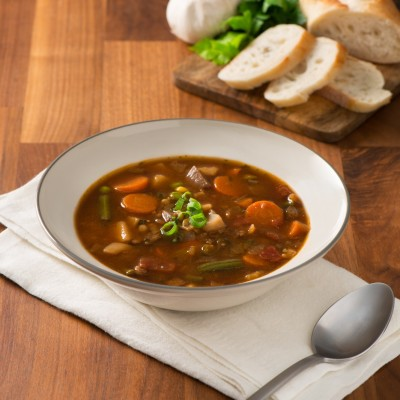 Campbell's® Signature Frozen Condensed Vegetable Beef with Barley Soup