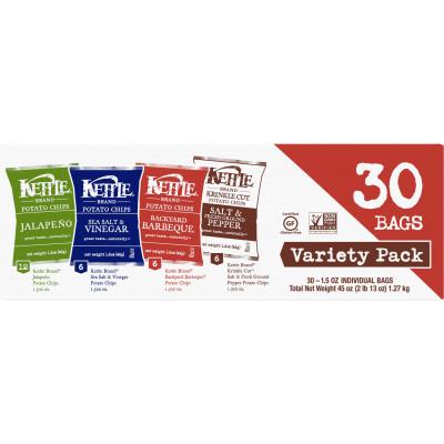 Potato Chips Variety Pack (Sea Salt & Vinegar, Krinkle Salt & Pepper, Backyard BBQ, Jalapeno)