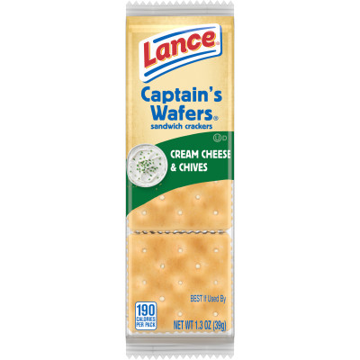 Captain's Wafers Cream Cheese and Chives Sandwich Crackers