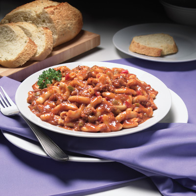 Campbell's® Frozen Entrées Hearty Mac and Beef in Tomato Sauce