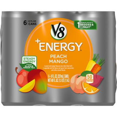 Healthy Energy Drink, Natural Energy from Tea, Peach Mango
