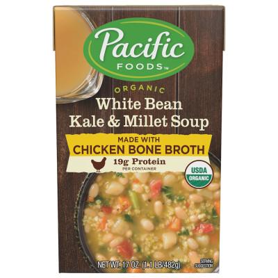 Organic White Bean Kale & Millet with Chicken Bone Broth Soup