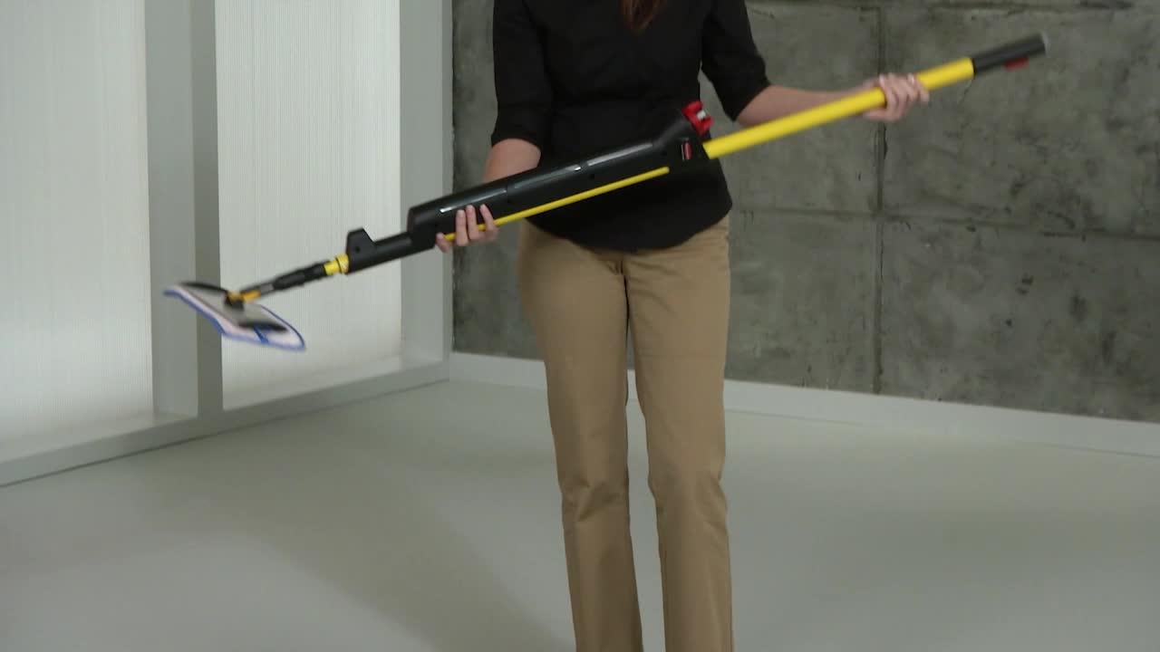 Hygen Pulse Microfiber Mop Kit Single Sided Yellow